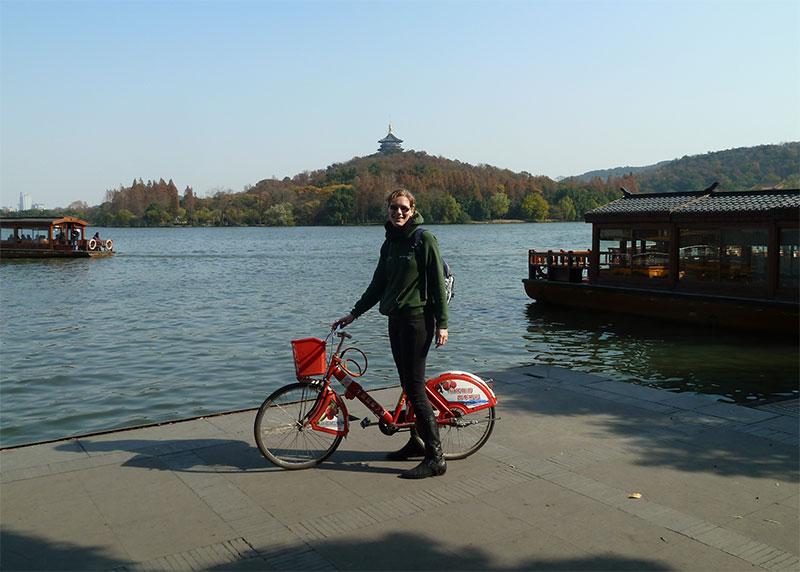 fietsen in hangzhou