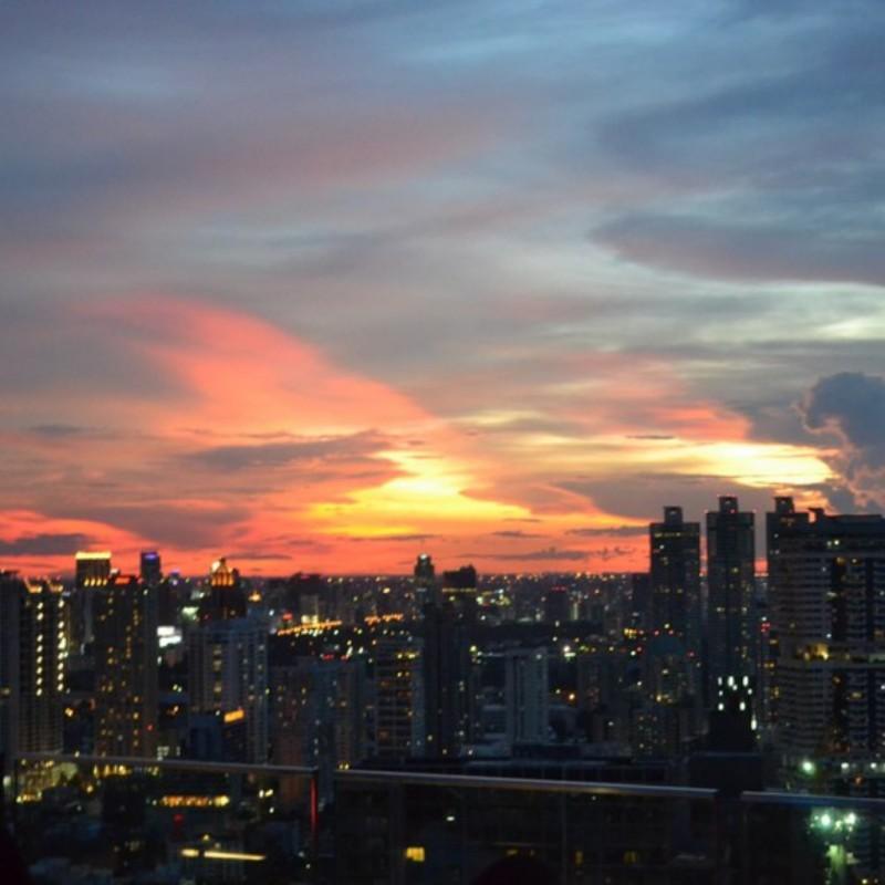 zonsondergang bangkok