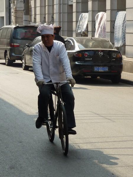 kok op fiets