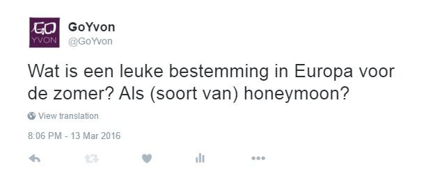 huwelijksreis in Europa