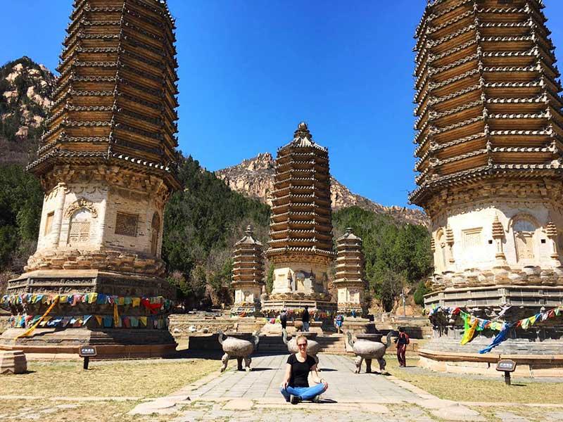 hiken in beijing zilveren pagodes