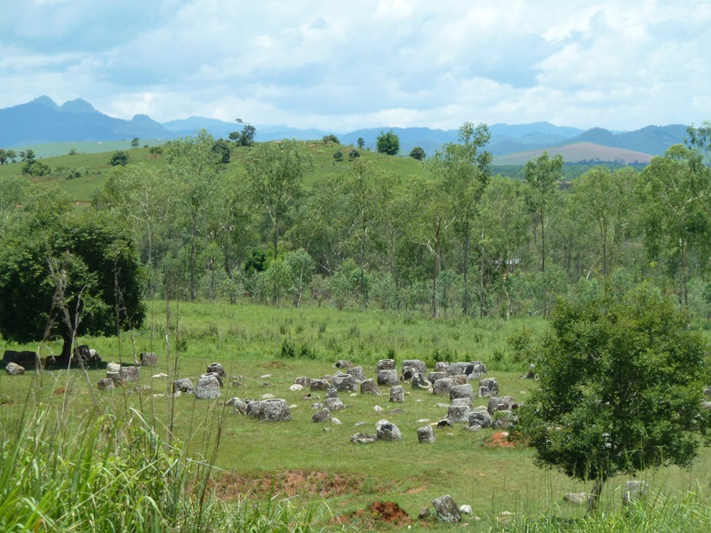 plain of jars in Phonsavan