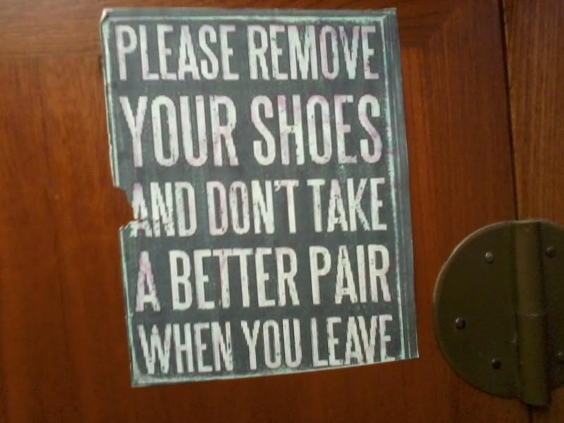 quote over schoenen