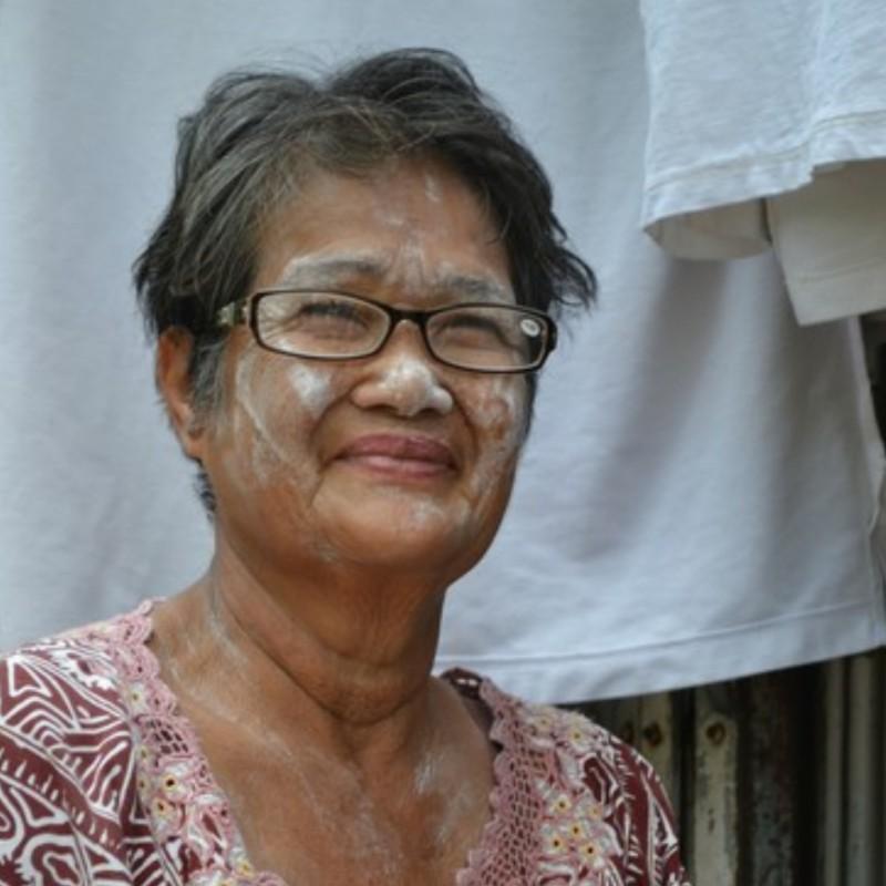 vrouw in bangkok