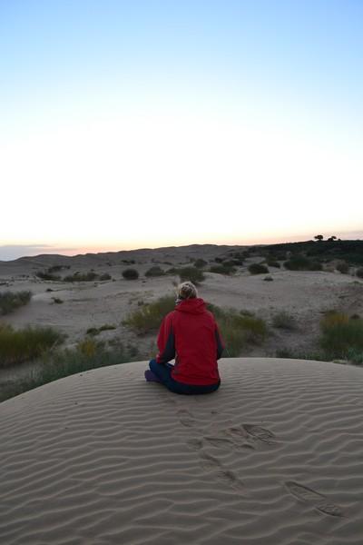 slapen in de gobi woestijn