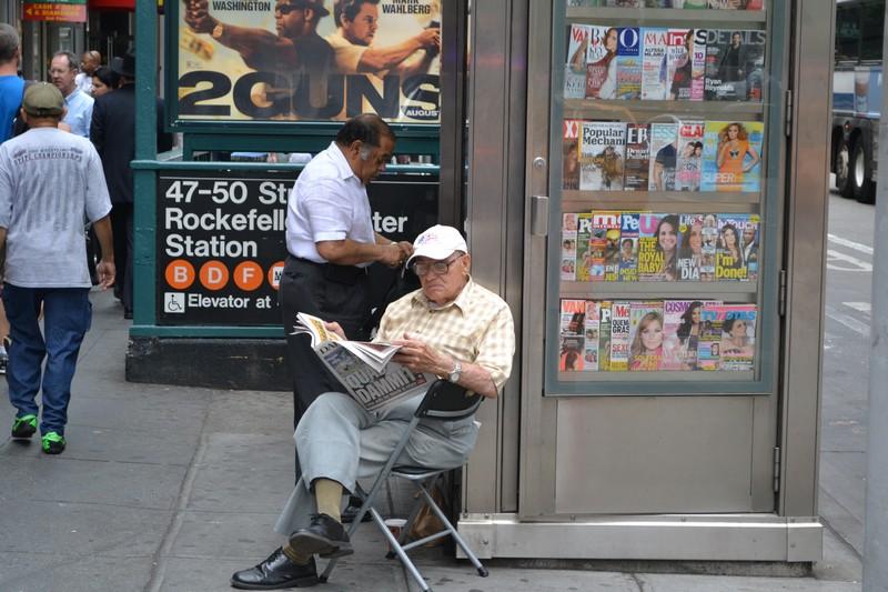 kiosk in New York City