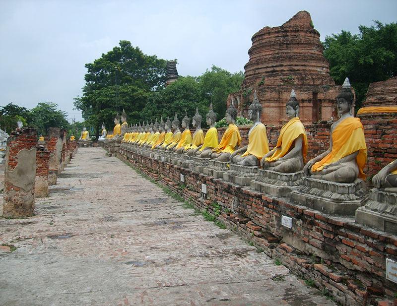 boeddha's in Ayutthaya