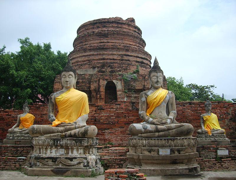 tempels van Ayutthaya