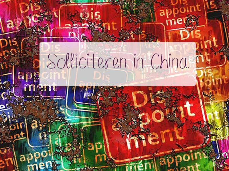 solliciteren in China