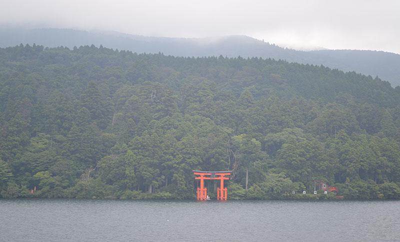 Boottocht over het Ashi Meer in Hakone