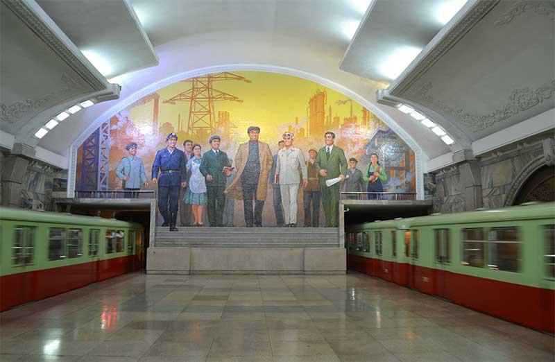 metro in Pyongyang