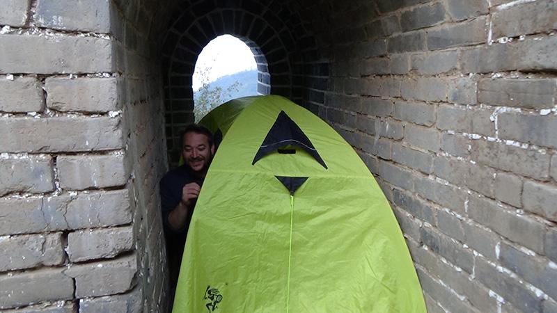 kamperen op de chinese muur