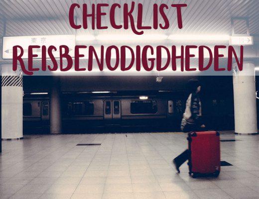 reisbenodigdheden checklist