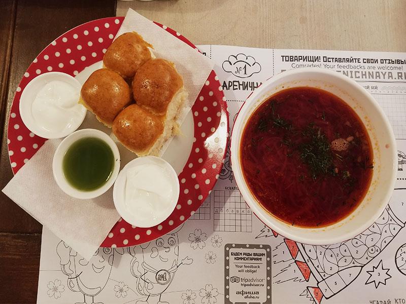 typisch russisch eten food tour door moskou