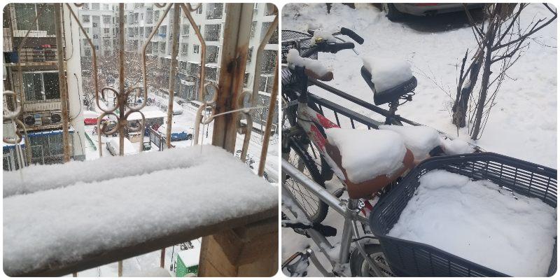 sneeuw in beijing